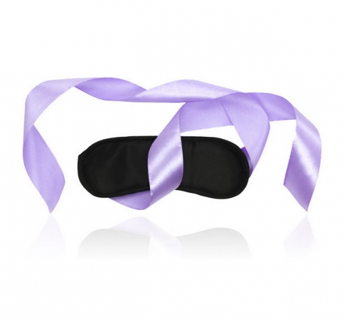 MOG Black sponge pink ribbon eye mask