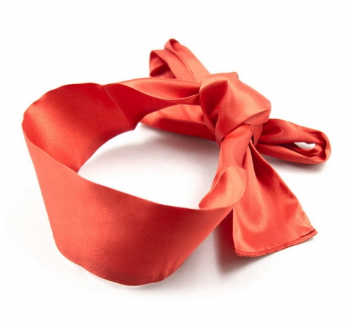 MOG Satin tied hands with ribbon eye mask