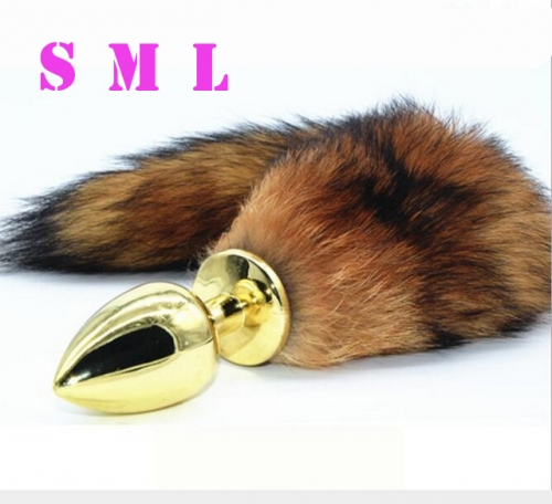 MOG Golden fox tail anal plug