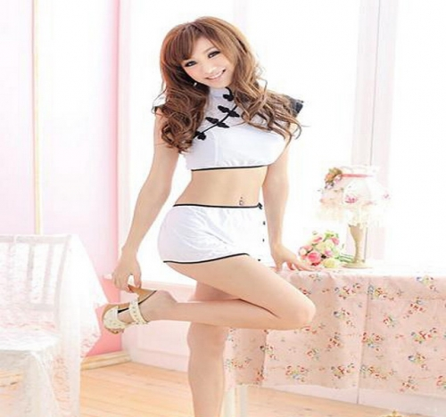 MOG Sexy uniform seduction cheongsam lady sexy pajamas