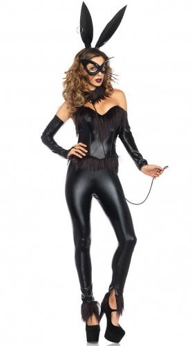 MOG Black Skinny Bunny Girl Costume