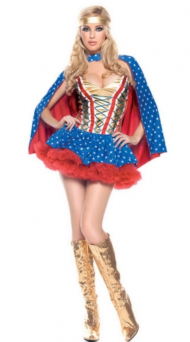 MOG Superman Costume Wonder Woman Party Costume