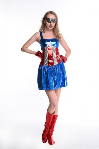 MOG New Halloween Captain America uniform seduces cosplay