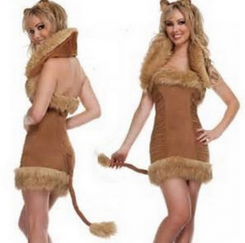 MOG Fake fur fur suit cosplay cat girl costume