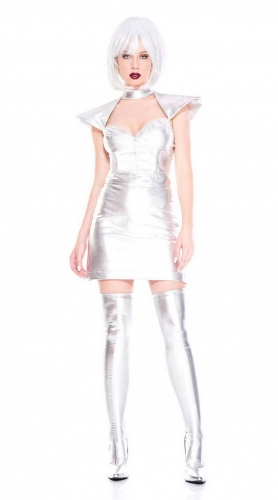 MOG New Silver Outer Space Warrior Costume