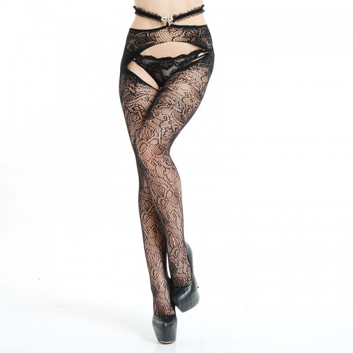 MOG Sexy temptation jacquard non-slip silk stockings