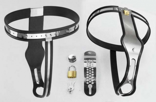 MOG New steel version of female T stainless steel chastity belt