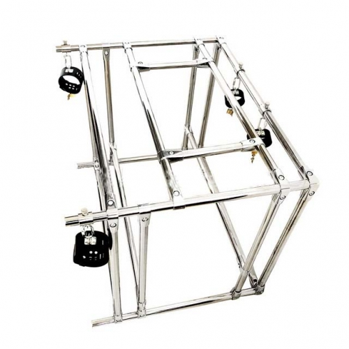 MOG Lower body training frame bondage metal collar torture