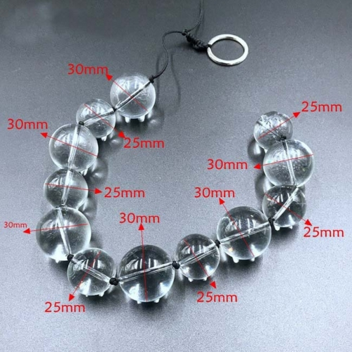 MOG Chrysanthemum crystal glass beads anal plug for women-20/25mm and 25/30mm