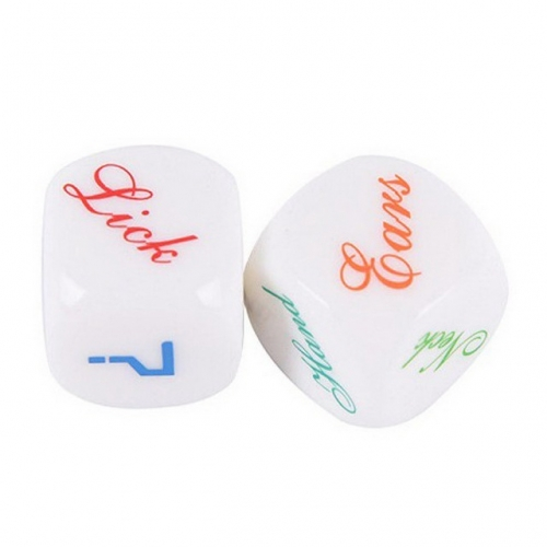 MOG English fun dice sieve / dice English dice paired 2.5cm set of 2