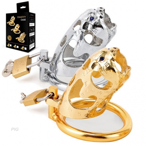 MOG Zodiac pig metal chastity lock chastity fun male appliance adult supplies penis penis pendant sex supplies