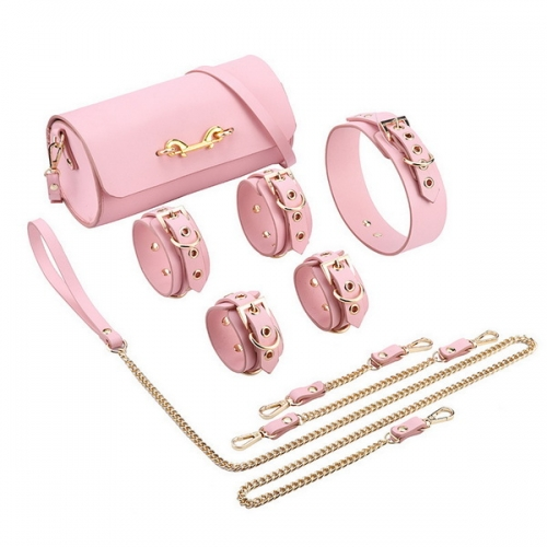 Erotic SM Real Leather Drum Bag Leather Bundle Set Femdom Toy Adult Products Hand and Handcuffs