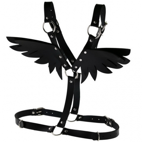 MOG BDSM Restraint New Leather Angel Wing Strap Set SM Bondage Women's Leather Top Bound Adult Game Body Belt Shoulder Straps Sexy Belt