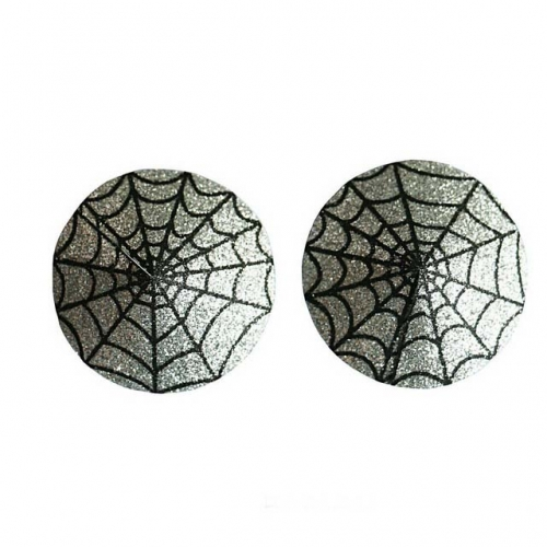 MOG Sexy Halloween dress up breast stickers Spot shiny Gree spider web sexy chest stickers