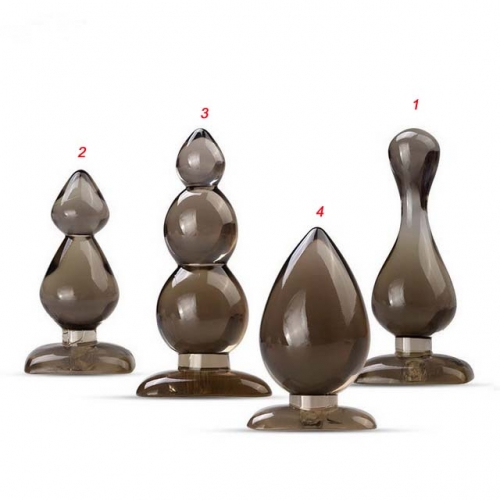MOG Backyard Anal Plug Prostate Massage Four-piece Set For Men And Women Backyard Plug Appealing Glass Transparent Pull Beads Backyard Masturbator Adu