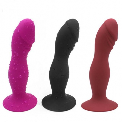 MOG Silica gel simulation penis anal plug female backyard masturbation device with suction cup to wear penis prostate massage sex toys