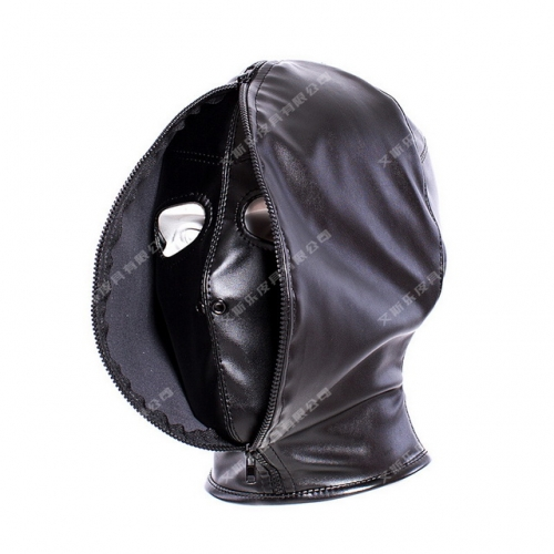 MOG Cover face open face eye-catching soft PU all-inclusive lace-up headgear training mask performance headgear leather punishment suffocation bondage