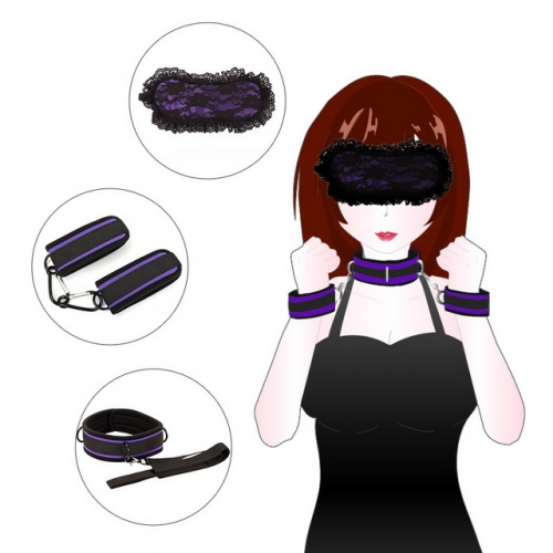 MOG SM Adult Sex Toys Handcuffs Eye Mask Collars Female Sex Toys Webbing Collars BDSM Alternative Props Sex Toys