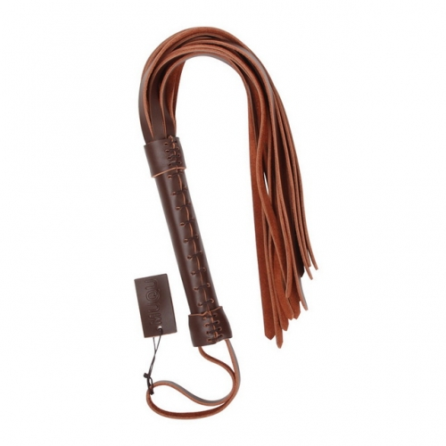 MOG Adult sex toys brown leather whip female training leather leather whip BDSM sex toy