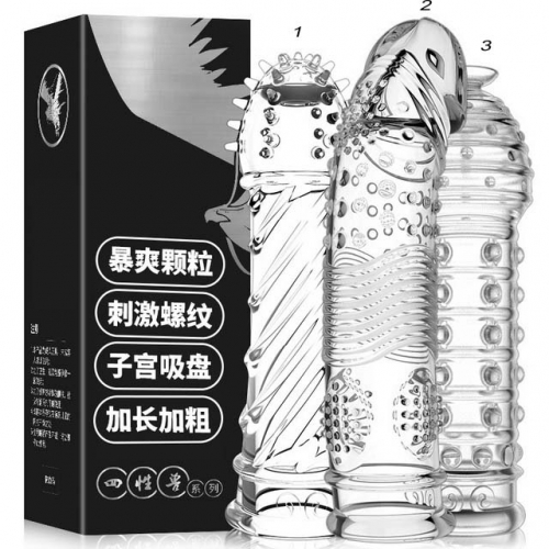 [MizzZee] Four-sex beast spike sleeve transparent crystal thorn sleeve penis sleeve male sex toy