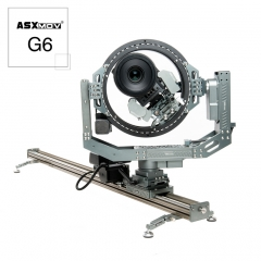 ASXMOV G6 Connectable timelapse stop motion stabilizer rail track system motorized camera slider with 3D head for dslr camera