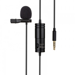 Lavalier Stereo Audio Recorder Interview Clip Microphone