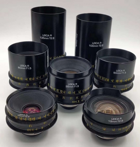 Leica R prime Lenses rehoused