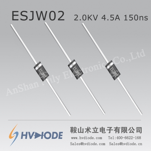 HVDIODE genuine ESJW02 high voltage diode 4.5A2KV150nS glass blunt chip high frequency high current