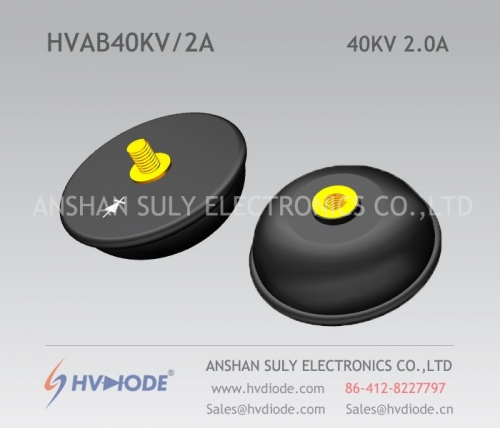 Military quality HVDIODE bowl type HVAB40KV / 2A power frequency high voltage rectifier component