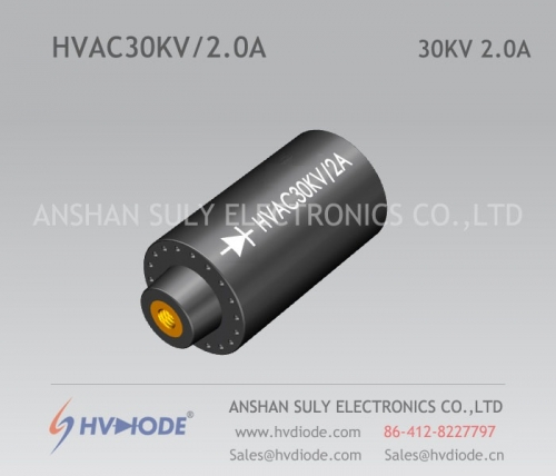 High-voltage rectifier components HVAC30KV / 2A cylindrical HVDIODE manufacturers special products