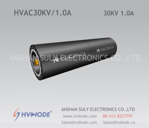 High-voltage rectifier components HVAC30KV / 1A cylindrical HVDIODE military quality control