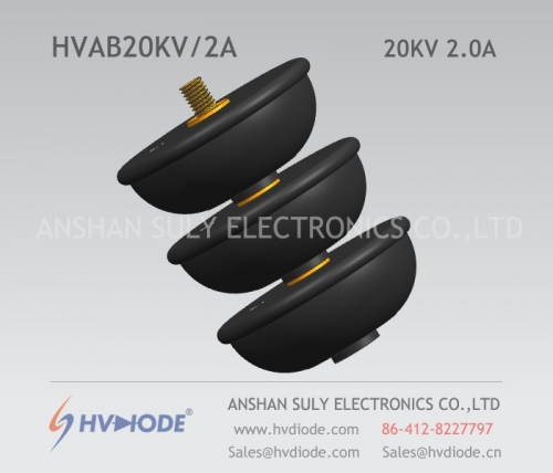 Military quality HVDIODE bowl type HVAB20KV / 2A power frequency high voltage rectifier component