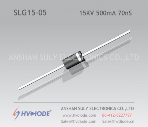 Genuine SLG15-05 high frequency high voltage diode 15KV500mA70nS ultra fast recovery HVDIODE manufacturer