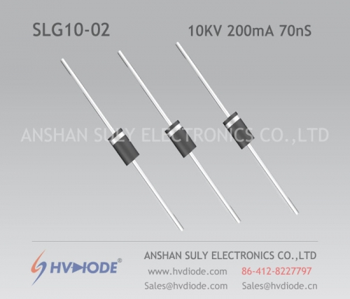 High frequency SLG10-02 ultra fast recovery high voltage diode 10KV200mA70nS