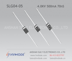 Medical industry 4KV500mA70nS high frequency high voltage diode SLG04-05 ultra fast recovery HVDIODE manufacturers