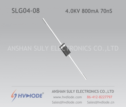 Military quality high frequency SLG04-08 ultra fast recovery high voltage diode 4KV800mA70nS