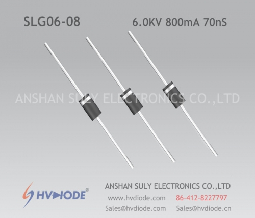 Military quality high frequency SLG06-08 ultra fast recovery high voltage diode 6KV800mA70nS