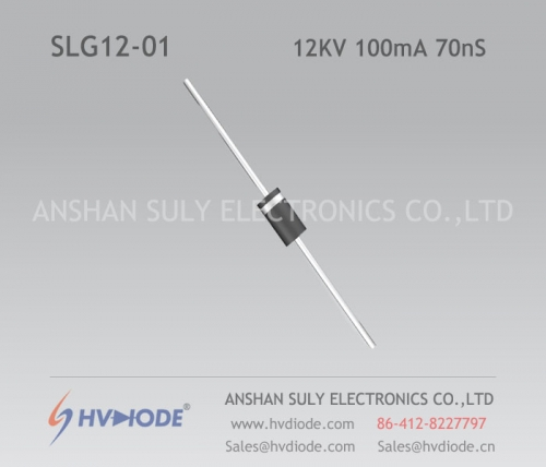 Ultra fast recovery SLG12-01 high frequency high voltage diode HVDIODE 12KV100mA70nS