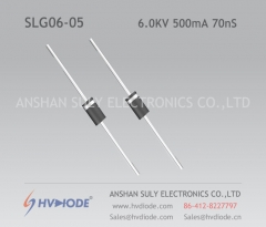 Genuine SLG06-05 high frequency high voltage diode 6KV500mA70nS ultra fast recovery HVDIODE manufacturer