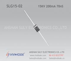 High frequency SLG15-02 ultra fast recovery high voltage diode 15KV200mA70nS