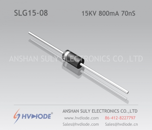 Military quality high frequency SLG15-08 ultra fast recovery high voltage diode 15KV800mA70nS