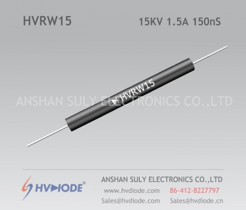 HVDIODE genuine HVRW15 high frequency high voltage diode 1.5A15KV150nS glass blunt chip high frequency response