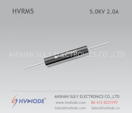Low frequency HVRM5 high voltage diode 5KV2A glass blunt chip HVDIODE genuine