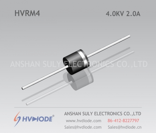 HVDIODE genuine HVRM4 low frequency high voltage diode 2A4KV50Hz glass blunt chip