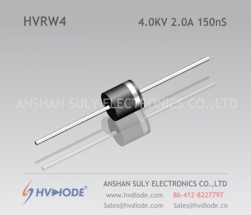 HVDIODE genuine HVRW4 high frequency high voltage diode 2A4KV150nS glass blunt chip high frequency response