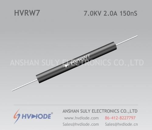 Damping diode HVRW7 high frequency response 2A7KV150nS glass blunt chip