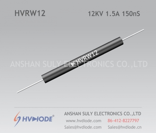 Damping diode HVRW12 high frequency 12KV1.5A150nS glass blunt chip HVDIODE genuine hot sale