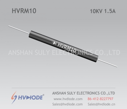Military quality HVRM10 high voltage diode 10KV1.5A low frequency glass blunt chip HVDIODE genuine