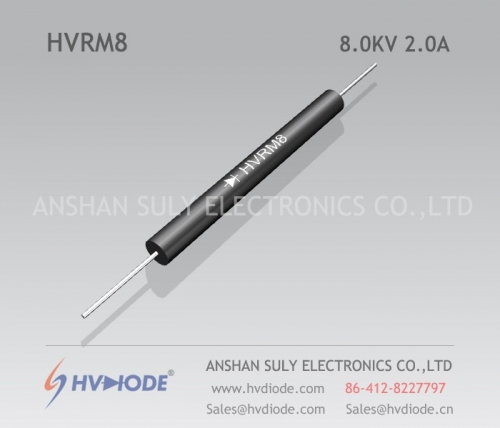 Low frequency HVRM8 high voltage diode 8KV2A glass blunt chip HVDIODE genuine