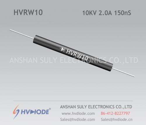 HVDIODE genuine HVRW10 high frequency 1.5A10KV150nS glass blunt chip damping diode